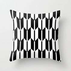 Throw Pillow Cover - Black White Chevron - 16x16, 18x18, 20x20 - Nursery Bedroom Original Design Home Décor by Adidit