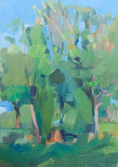 Laura Grosso 2015 oil on wood 21x30cm. Roma Parco delle Valli