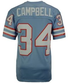 58fcbc87f Mitchell   Ness Men s Earl Campbell Houston Oilers Replica Throwback Jersey  Men - Sports Fan Shop By Lids - Macy s