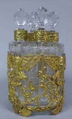Baccarat Ormolu Mounted Perfume Bottles