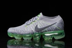 huge discount de2f7 2e36a Newest 2018 Nike Air Vapormax Flyknit Grey Green Shoe