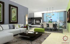 Cómo coordinar los colores de las pinturas de la sala de estar y del comedor Diseño de Salas