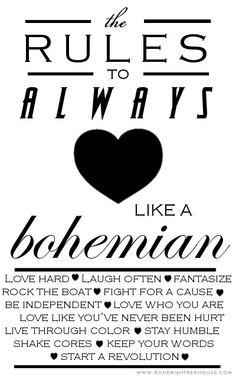 love like a bohemian