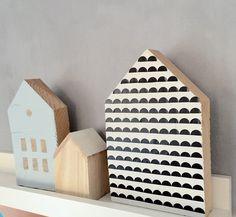 DIY: pimp je huisje- http://www.galerie-lucie.nl- DIY: decorate wooden houses