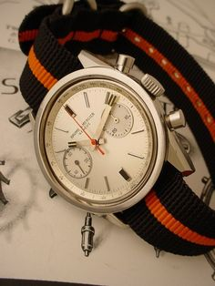 vintage baume et mercier steel chronograph.   #men // #fashion // #mensfashion