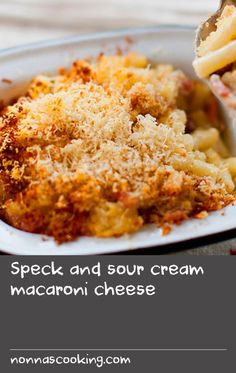 This is a relatively light mac-and-cheese that doesn't need a white sauce, but does taste heavenly thanks to the addition of sour cream and good-quality cheddar. Macaroni Pasta, Macaroni Cheese, Cheddar Cheese, Macaroni And Cheese, White Sauce Recipes, Cream Recipes, Mac Recipe, Sour Foods, Sour Cream