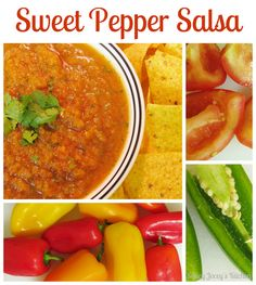 Saucy Joceys Kitchen: Sweet Pepper Salsa Fruit Recipes, Veggie Recipes, Snack Recipes, Healthy Recipes, Veggie Meals, Snacks, Yummy Recipes, Stuffed Sweet Peppers, Food For Thought