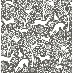 "Found it at Wayfair - Meadow 33' x 20.5"" Animal Wallpaper"