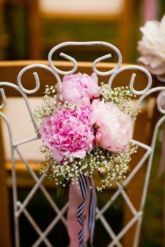 Ceremony Flowers Peonies w/ baby breathes