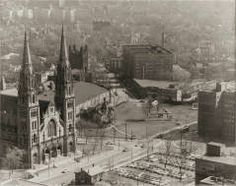 (Overview: View of Oakland with St. Paul's Cathedral) CLYDE HARE (AMERICAN, JULY 11, 1927–OCTOBER 14, 2009) 1953