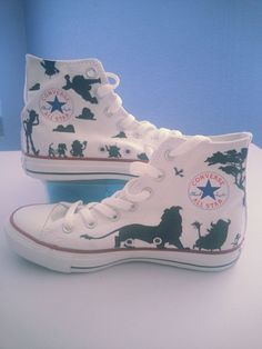 def1e96307b514 Awesome custom Disney shoes on Etsy Outfits With Converse