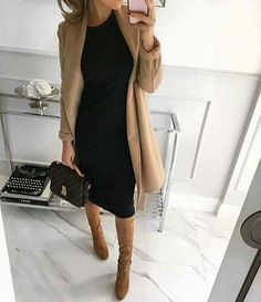 Perfect autumnal outfit for the office or a couple of drinks after work camel coat outfit Classy Work Outfits, Business Casual Outfits, Professional Outfits, Classy Casual, Outfit Work, Winter Work Outfits, Classy Style, Classy Womens Outfits, Fall Work Clothes