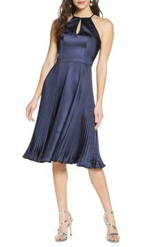 100+ Dresses Perfect for Wedding Guests | The Perfect Palette Satin Formal Dress, Satin Cocktail Dress, Cocktail Dresses Online, Dresses For Work, Dresses With Sleeves, Dress The Population, Chi Chi, Nordstrom Dresses, Flare Dress