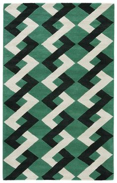 Crazy for Kate! Love the tone of the green and the pattern. Kate Spade New York Gramercy Zig Zag Rug, Picnic Green