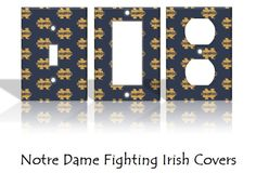 Notre Dame Fighting Irish Light Switch by KeepCalmandTurnItOn, $6.50--- J's room!!!!!