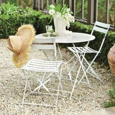Where to find patio dining sets? Shop patio dining sets, outdoor table and chairs, and outdoor furniture sets at Ballard Designs! Black Dining Table Set, 3 Piece Dining Set, Cafe Tables, Cafe Chairs, Outdoor Dining, Outdoor Decor, Outdoor Spaces, Outdoor Cafe, Ballard Designs