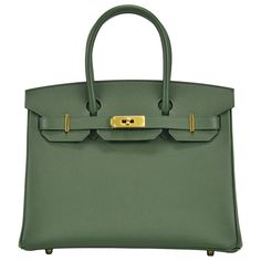 """2014 HERMES Handbag Birkin 30cm """"Vert Anglais"""" color Gold Hardware 