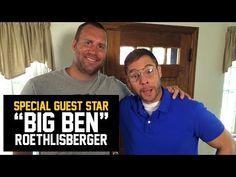 Pittsburgh Steelers quarterback, Ben Roethlisberger, visits Pittsburgh Dad's house.