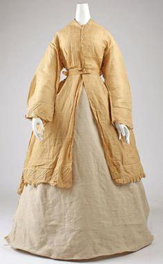 Dress (American) ca. 1870s linen