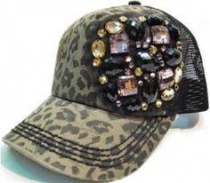 Olive Pique Leopard Rugged Trucker Rhinestone Bling Gemstone Lace Star Cowgirl   eBay
