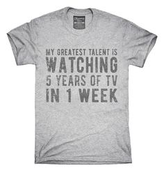 A tee that shows your most powerful skill to the world.   21 Things That Will Make Your Netflix Binge So Much Better
