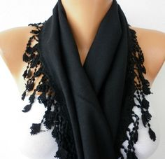 Women Pashmina  Scarf   Cotton Scarf  Headband  Cowl by fatwoman, $19.00