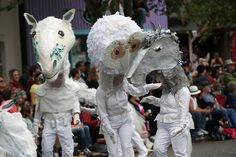 Creatures on parade at 2012 Fremont Solstice Parade! More photos: http://bit.ly/KHD5oY.