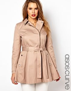 ASOS CURVE Fit & Flare Biker Mac  it might be too hot to think about jackets, but I love this.