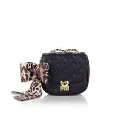 Betsey Johnson Heart Quilted Crossbody Bag with Bow