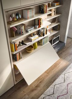 Convenient Table Cabinet From Attua Aparicio Torinos. Cabinets. The LGM  Tavolo Is A Queen Size, Wall Bed With 35 Linear Feet Of Shelving