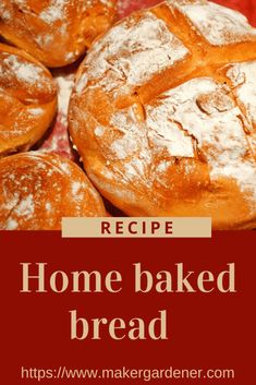 How to bake bread at home from scratch. This done by classic way using yeast and strong bread flour. #bakingbread #homebakedbread