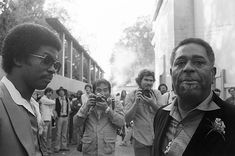 Herbie Hancock backstage with Dizzy Gillespie during the Berkeley Jazz Festival at the Greek Theatre in May 1979 in Berkeley, California.