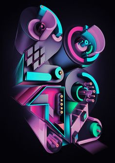 Inspirational 3D Typography and Title Design.: Rik Oostenbroek 3D type illustrations