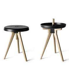 Kruk/ dienblad/ tafel Flip Around door Norm Architects, Menu
