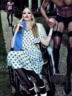 Lara Stone for Vogue Paris October 2010 by Steven Klein
