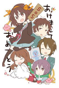 Kinokosuke, Suzumiya Haruhi no Yuuutsu, Kyon, Nagato Yuki, Asahina Mikuru, Suzumiya Haruhi