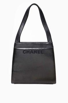 Vintage Chanel Black Leather Handbag