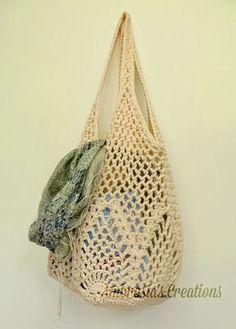 Pineapple Crochet Market Bag By Amber - Free Crochet Pattern - (ambrosiascreations.blogspot)