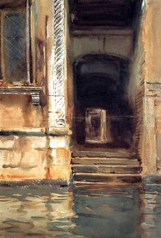 "met-american-painting: "" Venetian Passageway by John Singer Sargent, American Paintings and Sculpture Medium: Watercolor, gouache, and graphite on white wove paper Gift of Mrs. Monet, Beaux Arts Paris, Illustration Art, Illustrations, Inspiration Art, Oeuvre D'art, American Artists, Les Oeuvres, Art History"
