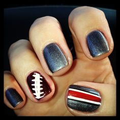 Ohio State Nails!! Go Buckeyes. Designed by Ryan Queen  Created by Envi Nails