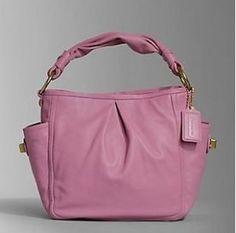 coach purse Parker leather shoulder tote 13412 pink handbag