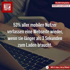 53% aller mobilen Nutzer verlassen eine Webseite wieder, wenn sie länger als 3 Sekunden zum Laden braucht. Technology, Abandoned, Website, Weaving