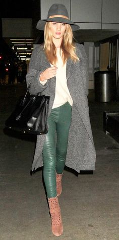 13 Celebrities Who Know How to Bundle Up in Style - Rosie Huntington-Whiteley from #InStyle
