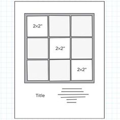 "8-1/2x11"" Scrapbook Page Sketches 31-60: Scrapbook Page Sketch 291"