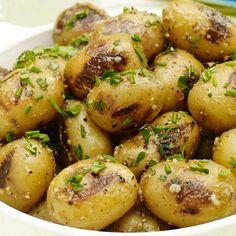 Batatas Mostarda Aioli Grelhado com Ervas
