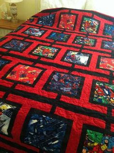Spiderman quilt or any other character.