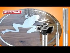 Frog Table CNC Project using Amana Tool Aluminum Solid Carbide 'O' Flute Router Bits - YouTube