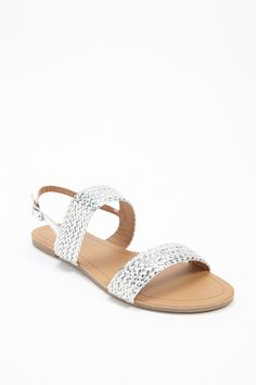 Product Name:Qupid Metallic Braided Sandals, Category:Shoes, Price:18
