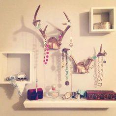 Deer antler jewelry holder