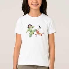 Mulan and Mushu Kicking T-Shirt - click/tap to personalize and buy Disney Lion King, Fitness Models, Kicks, T Shirts For Women, Casual, Fabric, Cotton, How To Wear, Stuff To Buy